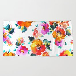 Hand-Painted Watercolor Beach Towel