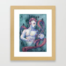 Keeper Of The Abyss Framed Art Print
