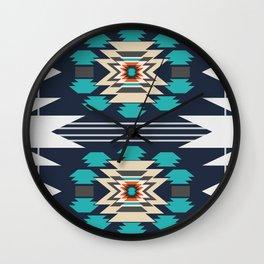 Double ethnic decor Wall Clock