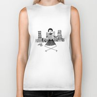 bookworm Biker Tanks featuring Bookworm by kate gabrielle