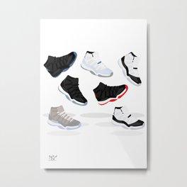 Jordan 11's Metal Print