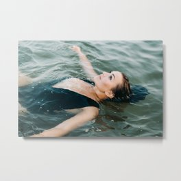 In the water | Ocean inspired portrait of a young woman Metal Print