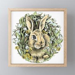 Spring rabbit Framed Mini Art Print