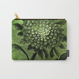 floral on green Carry-All Pouch