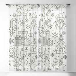 Simply Christmas Sheer Curtain