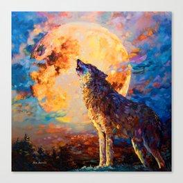 Wolf Art by Leon Devenice Canvas Print