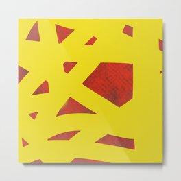 Yellow alert Metal Print