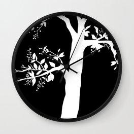 Chokecherry Tree Wall Clock