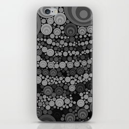 Art Retro Grey and Black iPhone Skin