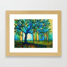 Big Blue Tree Framed Art Print