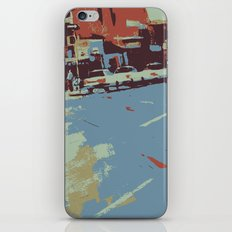 Cityscape abstract wall art print iPhone Skin