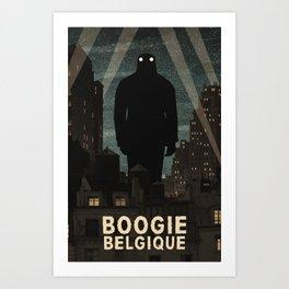 Boogie Belgique Poster ᐅ Mixed media ᐅ Music Poster ᐅ Boogieman Art Print