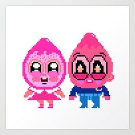 Berry girl & Corn boy  Art Print
