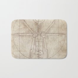 Da Vinci's Real Screw Invention Bath Mat
