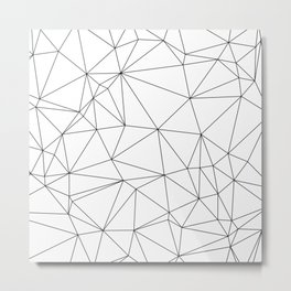 Black and White Geometric Minimalist Pattern Metal Print