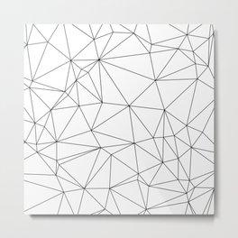 Black and White Geometric Minimalist Pattern Metal Print