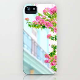 Colonial Havana Architecture with Pink Bougainvillea iPhone Case
