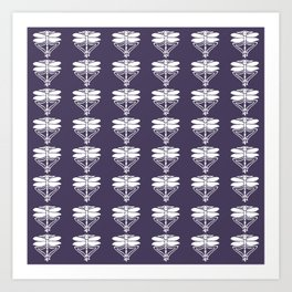 Meteorite Purple Arts and Crafts Dragonflies Art Print