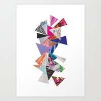 triangles Art Prints featuring Triangles by Lydia Coventry