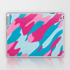 pink and blue camo abstract Laptop & iPad Skin