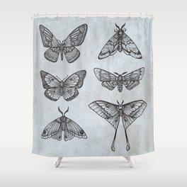 Moths & Butterflies II Shower Curtain