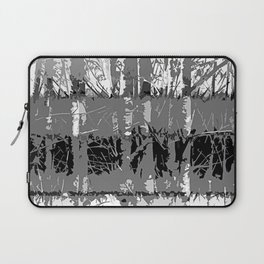 Tropical Abstract Trees in Steely Gray Laptop Sleeve