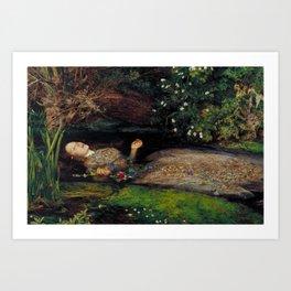 John Everett Millais Ophelia Painting Art Print