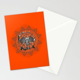 Skull and Crossbones Medallion Stationery Cards