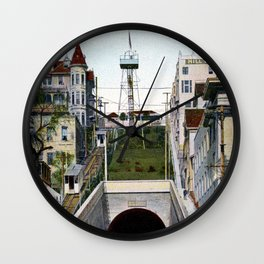 1901 Angel's Flight railway, Hill Street Los Angeles Wall Clock