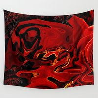 cherry Wall Tapestries featuring Cherry  by LBH Dezines