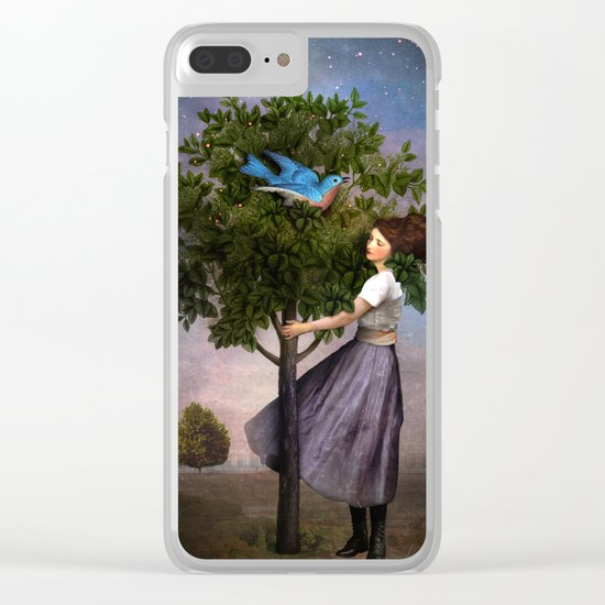 A Bluebird's Song Clear iPhone Case