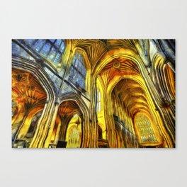 Bath Abbey Van Gogh Canvas Print