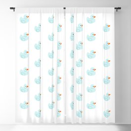 Baby blue rubber duck Blackout Curtain