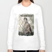 walking dead Long Sleeve T-shirts featuring The Walking Dead by ketizoloto