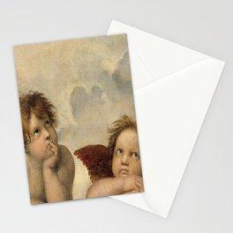 Raphael – Madonna Sistine – detail – two putti Stationery Cards