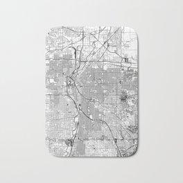 Denver White Map Bath Mat