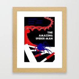 Amazing Spider-Man Pulp Poster Framed Art Print