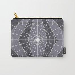 Monochrome Minimalist Geometric Lines Design Carry-All Pouch