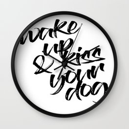 Kiss your Dog Wall Clock