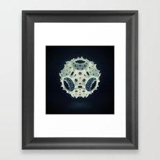 Icosahedron Bloom Framed Art Print