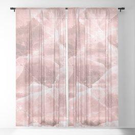 Rose quartz stone Sheer Curtain