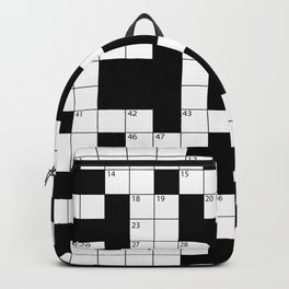 Cool Crossword Pattern Backpack