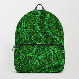 Green Spiritual Mandala Garden Backpack