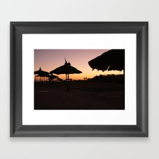 Egypt at dawn Framed Art Print