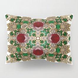 Kaleidoscope No. 30 Emeralds, Rubies and Diamonds Pillow Sham