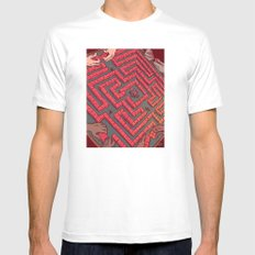 Domino Labyrinth Mens Fitted Tee MEDIUM White