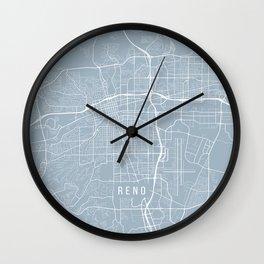 Reno Map, USA - Slate Wall Clock