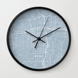 Reno Map, USA - Slate Wall Clock