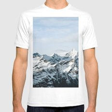 Mountain #landscape photography MEDIUM Mens Fitted Tee White