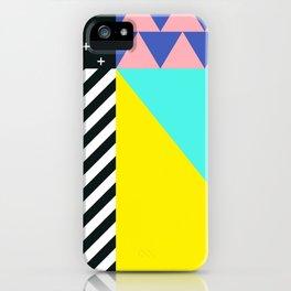 Memphis pattern 90 iPhone Case
